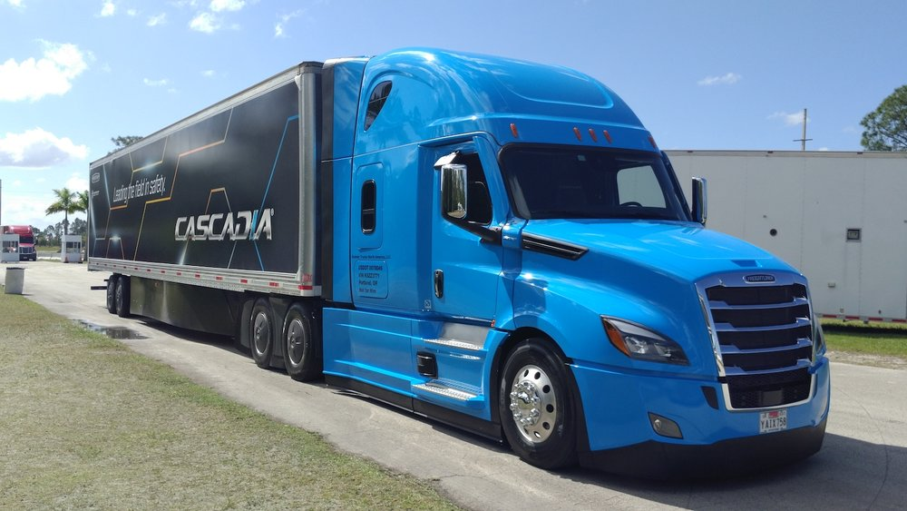 The 2020 model year Freightliner New Cascadia features technologies that qualify it as a Level 2 autonomous, but drivers shouldn't be scared off by that. ( Photo: Brian Straight/FreightWaves )