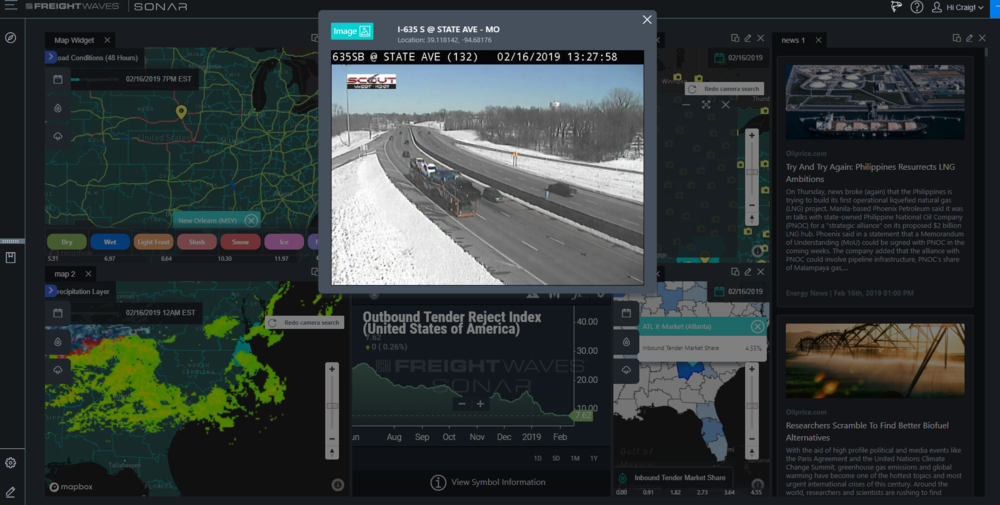 Powerful new visual themes are added to FreightWaves SONAR 3.2