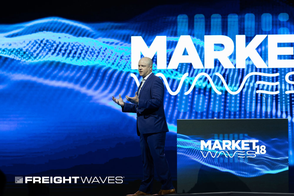 FreightWaves founder and CEO Craig Fuller at marketwaves18. photo credit: FreightWaves/josh roden