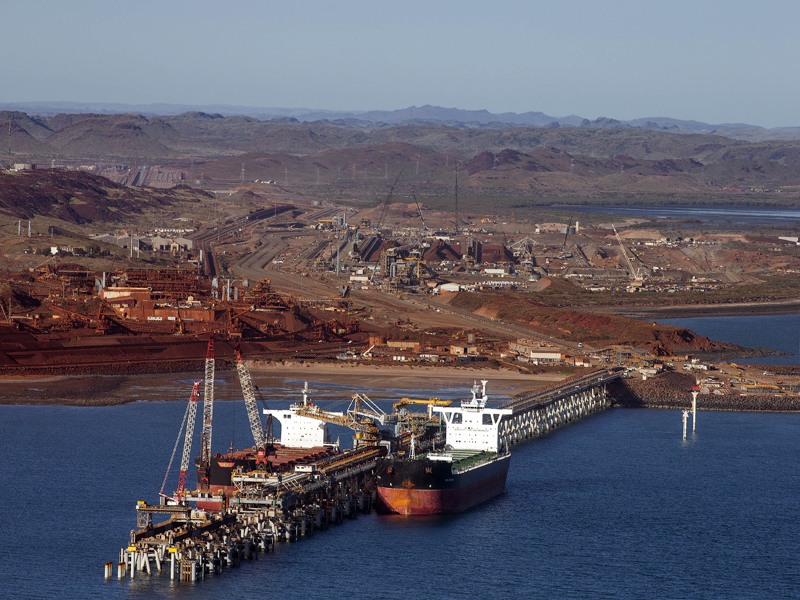 Pictured: iron ore exports from the Pilbara region of Western Australia;  Photo: Rio Tinto