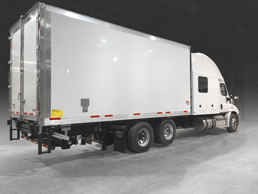 Wabash showed off its new Cold Chain refrigerated line of truck bodies.