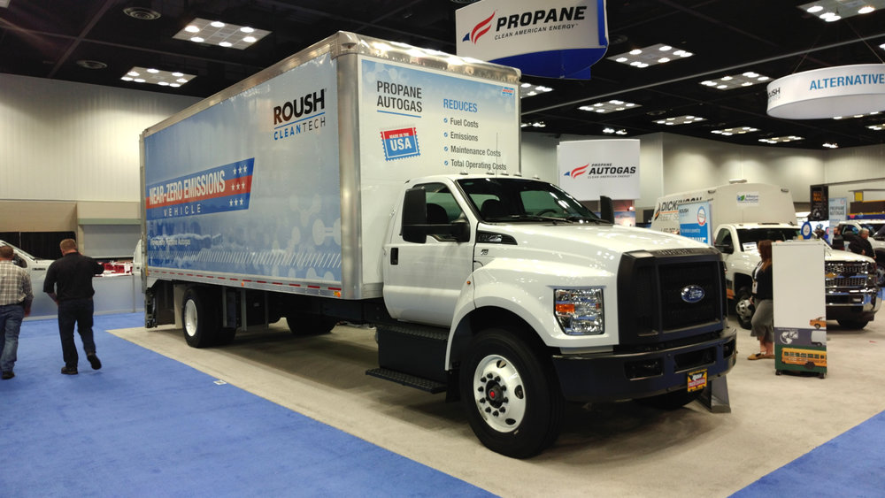 While propane doesn't pack quite the punch diesel does, it does produce enough power to handle many of the tasks at a fraction of the overall cost, advocates say, up to Class 7 applications as this Ford F-650 box truck shows, so why is not a more popular fuel for commercial operations? ( Photo: Brian Straight/FreightWaves )
