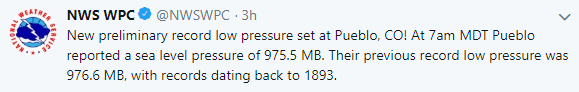 National Weather Service (NWS) tweet on March 13, 2019.
