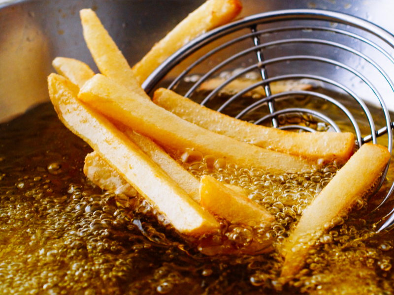 Now that looks appealing… no, not the French Fries… the cooking oil. It can be collected, treated and recycled into a biofuel for use by ocean going ships. It's low sulfur, low carbon and it might be gaining approval by ocean shippers and carriers around the world. Photo: Shutterstock.