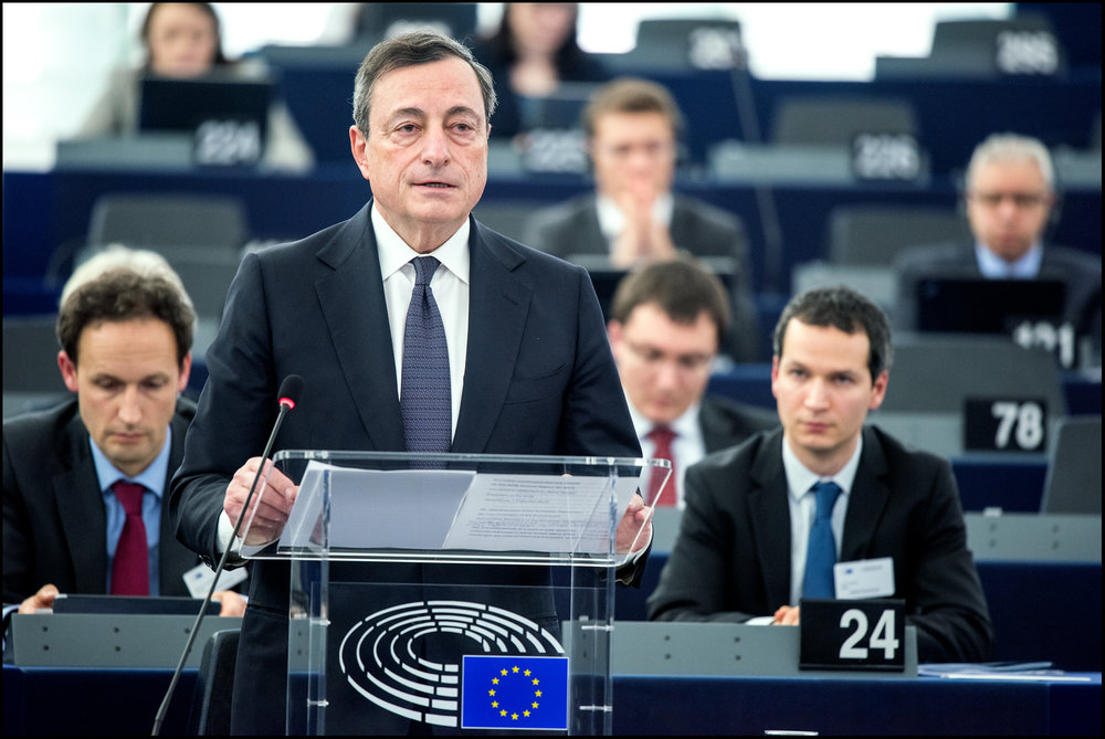 Mario Draghi, the President of the European Central Bank. ( Photo: European Parliament )