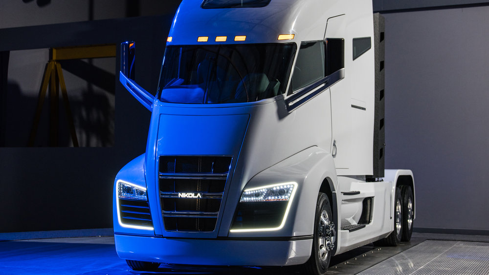 Canadian businessES would be able deduct the full cost of electric trucks under a budget proposal. Image: Nikolamotor