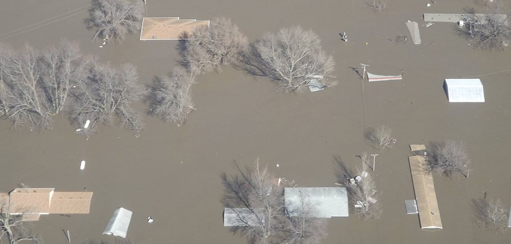 Record flooding in Fremont County, Iowa on March 17, 2019.  (Photo: Fremont County, Iowa Emergency Management)