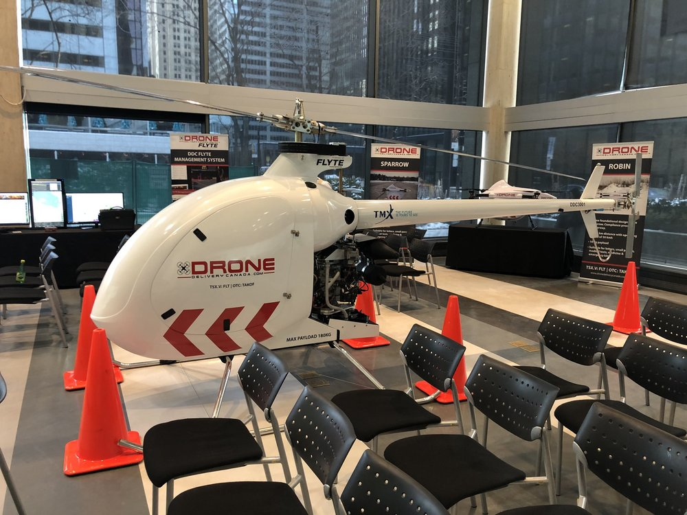 Drone delivery canada unveiled its newest cargo drone, The condor, in february. credit:Drone delivery Canada