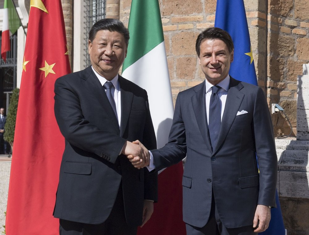 China's Xi Jinping with Italy's Giuseppe Conte  (Photo: Italian Prime Minister's Office)