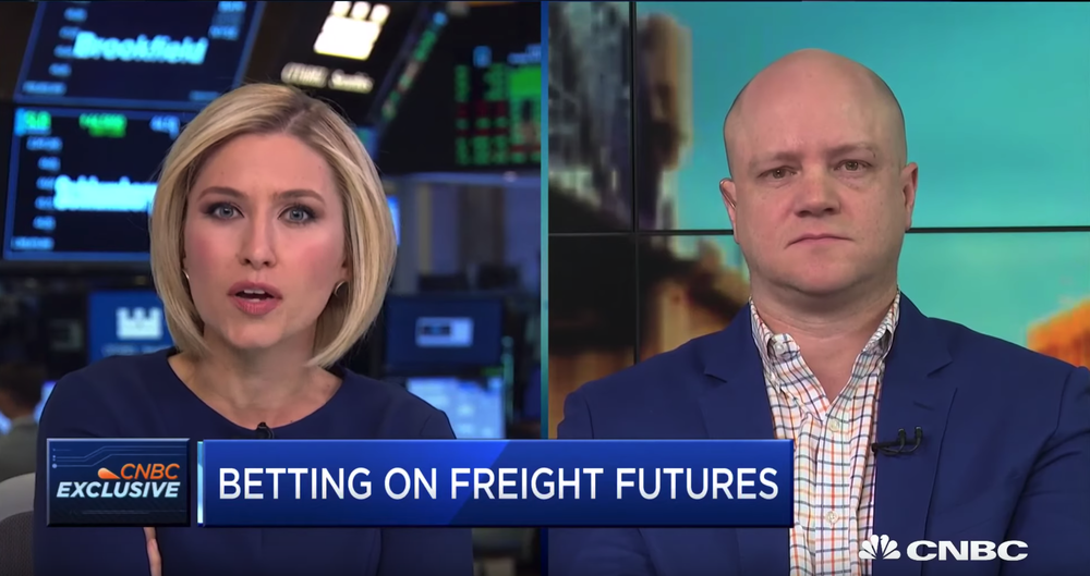 "FreightWaves CEO Craig Fuller joins ""Squawk Alley"" to discuss his company's futures based on trucking spot prices."