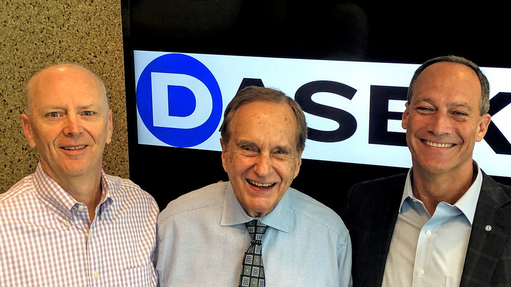 Don Daseke, CEO (center) and Scott Wheeler, President (left) welcome new COO, Chris Easter (right) to Daseke. ( Image: Daseke )