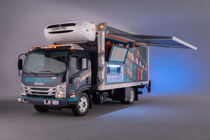 Isuzu with partners Supreme and Delivery Concepts have introduced a truck body designed for craft brewers, complete with taps.