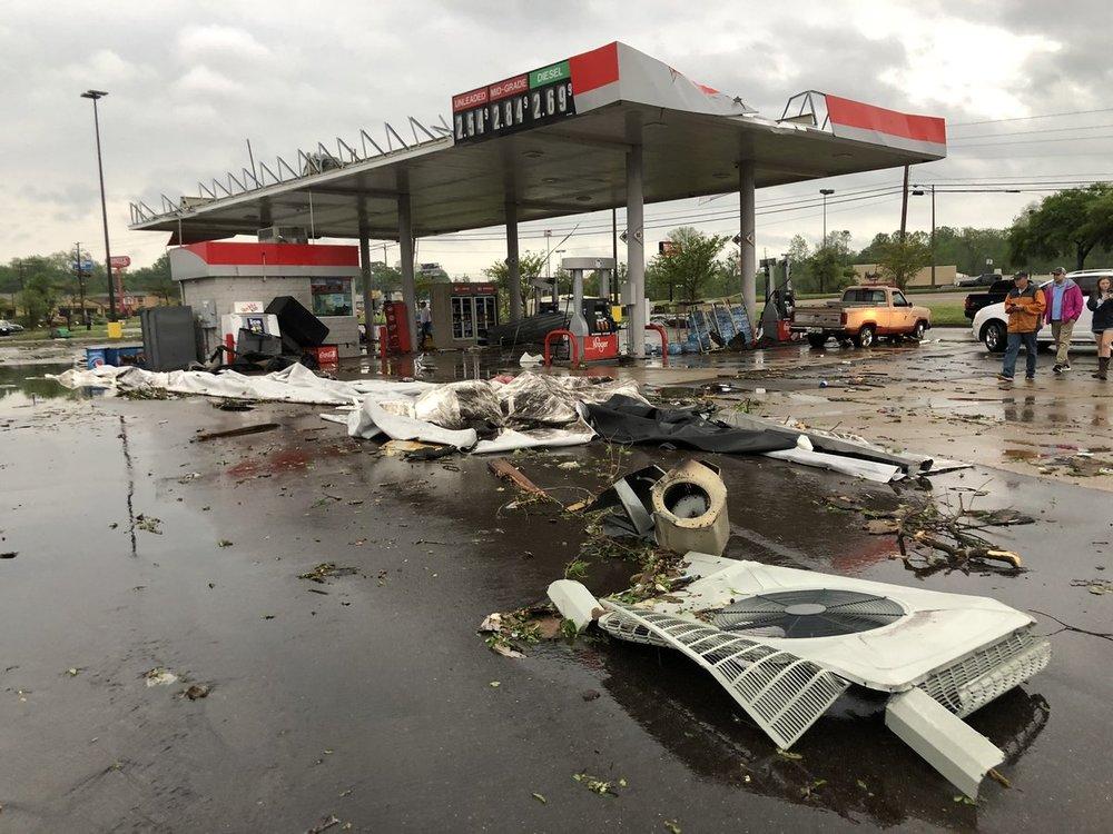 Tornado damage in Vicksburg, Mississippi on April 13, 2019.  (Photo: Charles Peek)