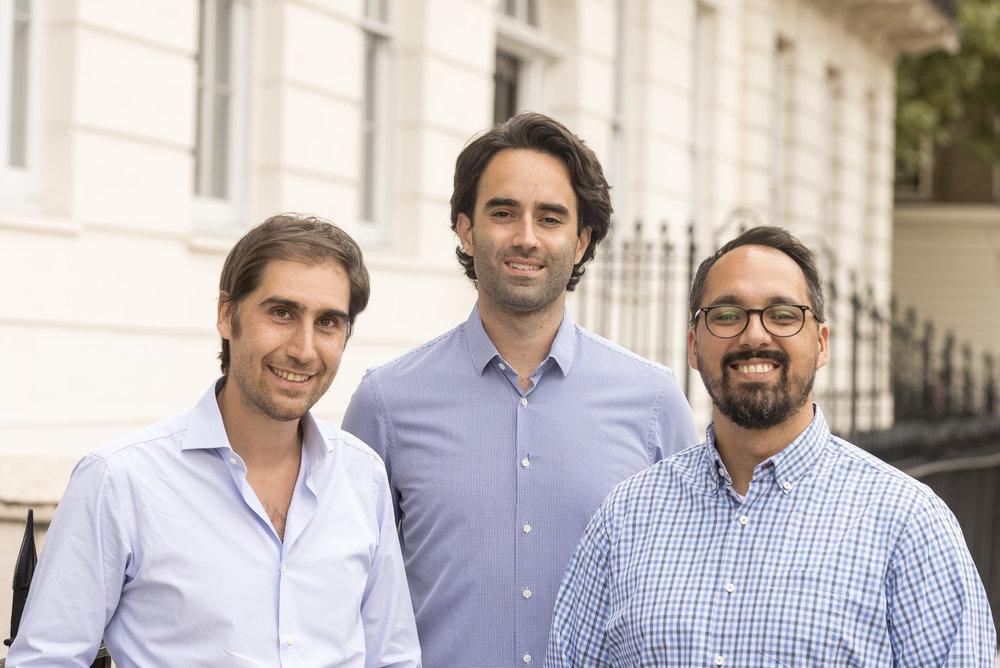 L to R: Zencargo's founders Richard Fattal, Alex Hersham, and Jan Riethmayer.