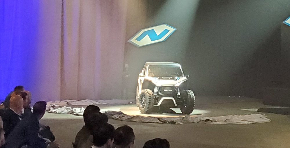 The NZT offers electric-power and zero emissions in an off-road utility vehicle. ( Photo: Brian Straight/FreightWaves )
