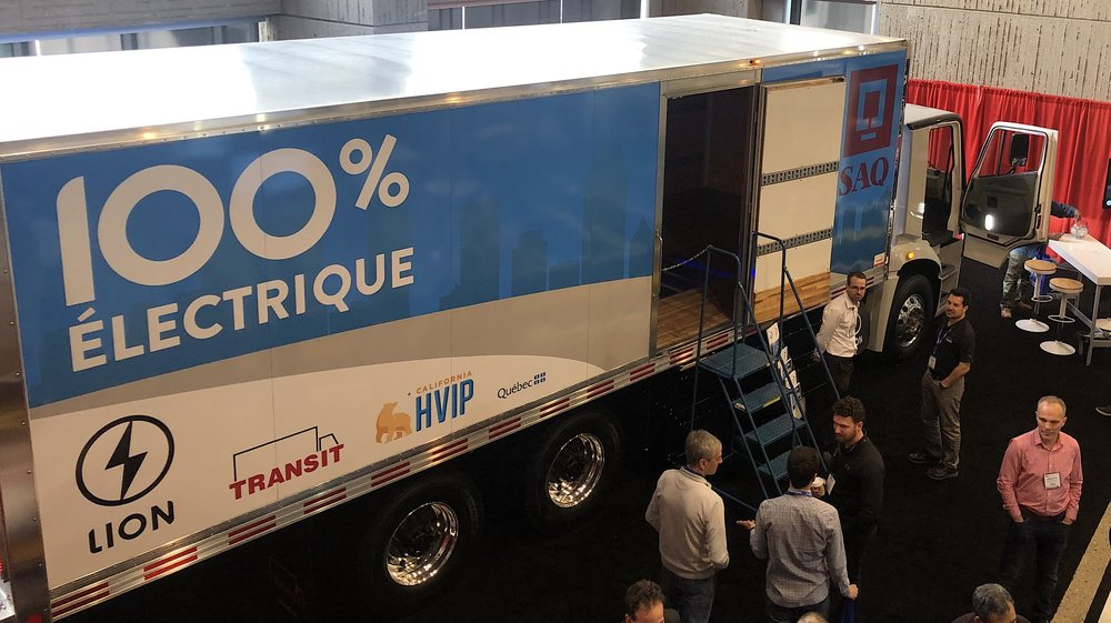 The truck will enter service in the fall of 2019 for quebec's government-run alcohol distributor. photo: Nate Tabak