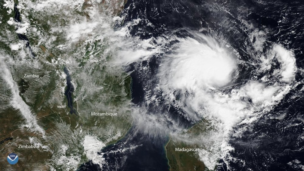 Satellite image on Tropical Cyclone Kenneth on April 23, 2019.  (Photo: NOAA)