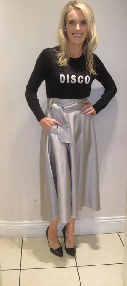 InWear silky soft satin skirt