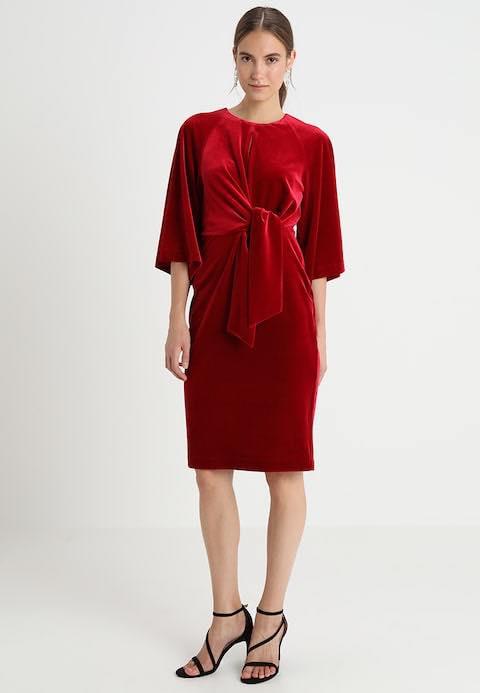 InWear Vonda velour tie front dress