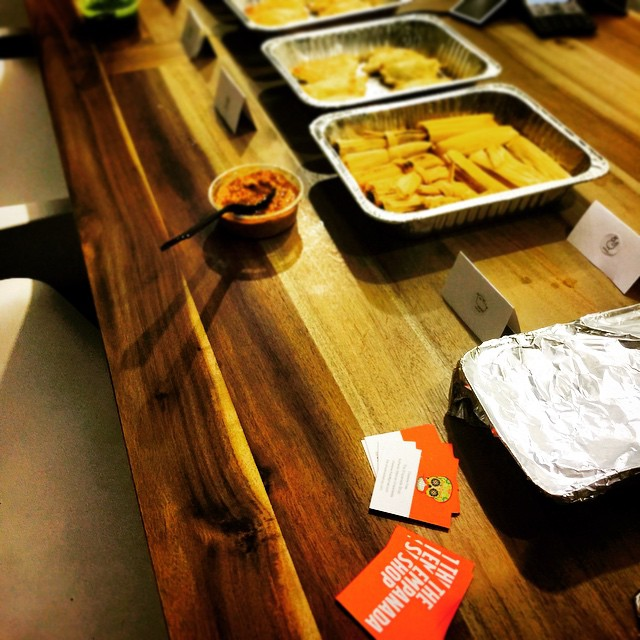 #empanada & #tamale tasting at @cater2.me
