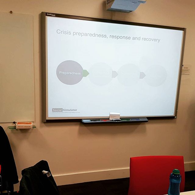 Brilliant training event yesterday with #CIPR Cymru and Tim Lloyd from Social Simulator on handling a social media crisis - always good to be prepared! #socialmedia #crisiscomms #training