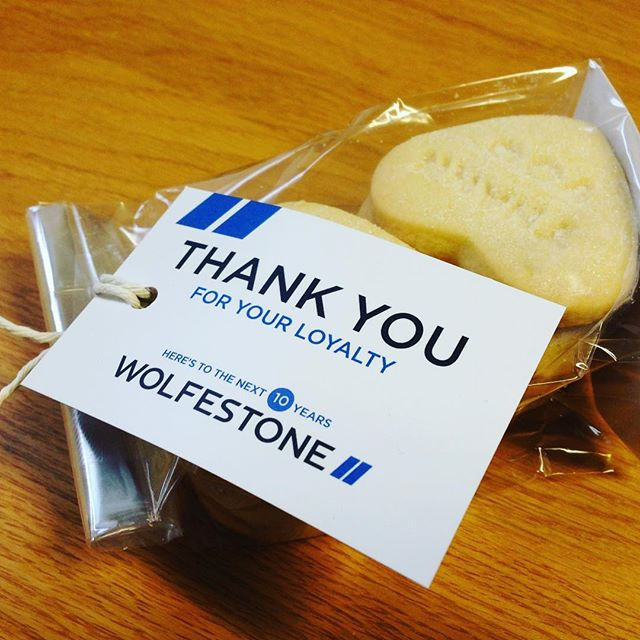 Always brilliant customer support from #Wolfestone, what a lovely little touch these #biscuits are!