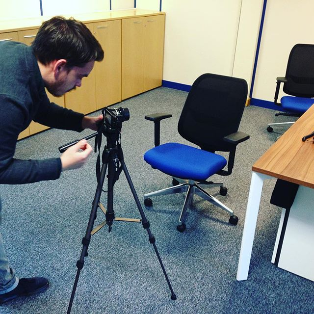 Getting the scene set for our client Glamorgan Telecom this afternoon 🎞🎥 #filming