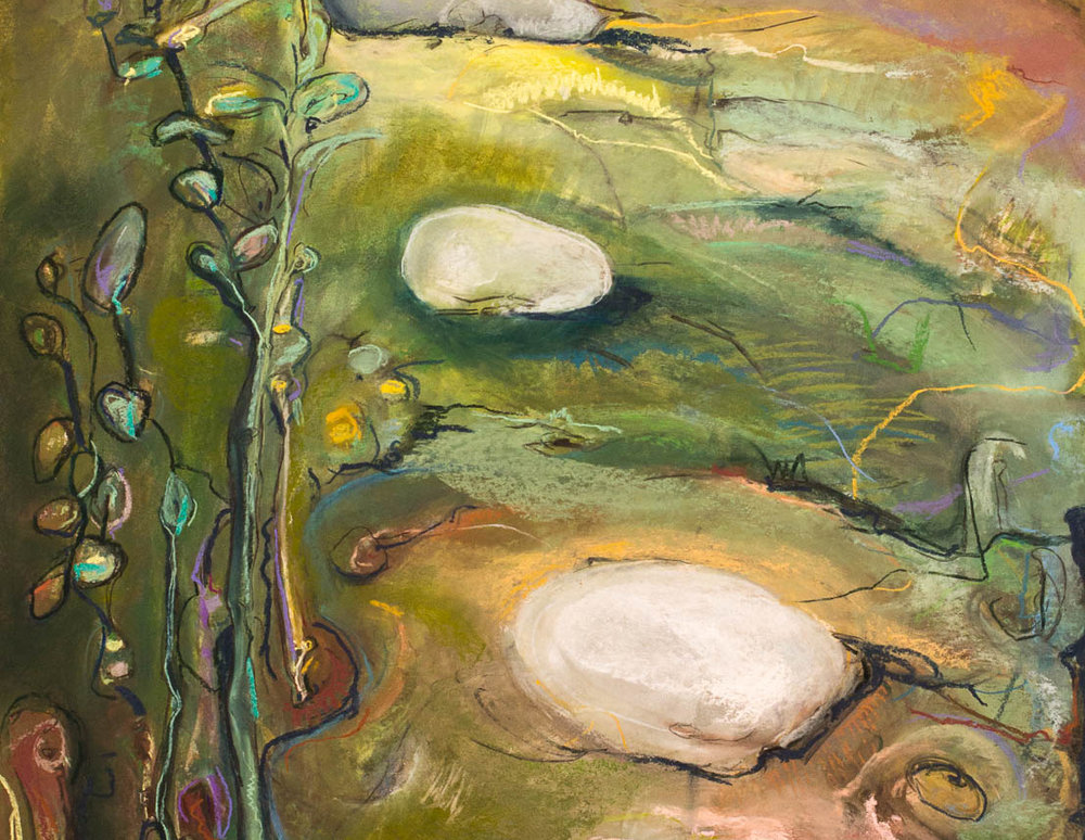 Forest Beckons (detail) by Kate Henderson