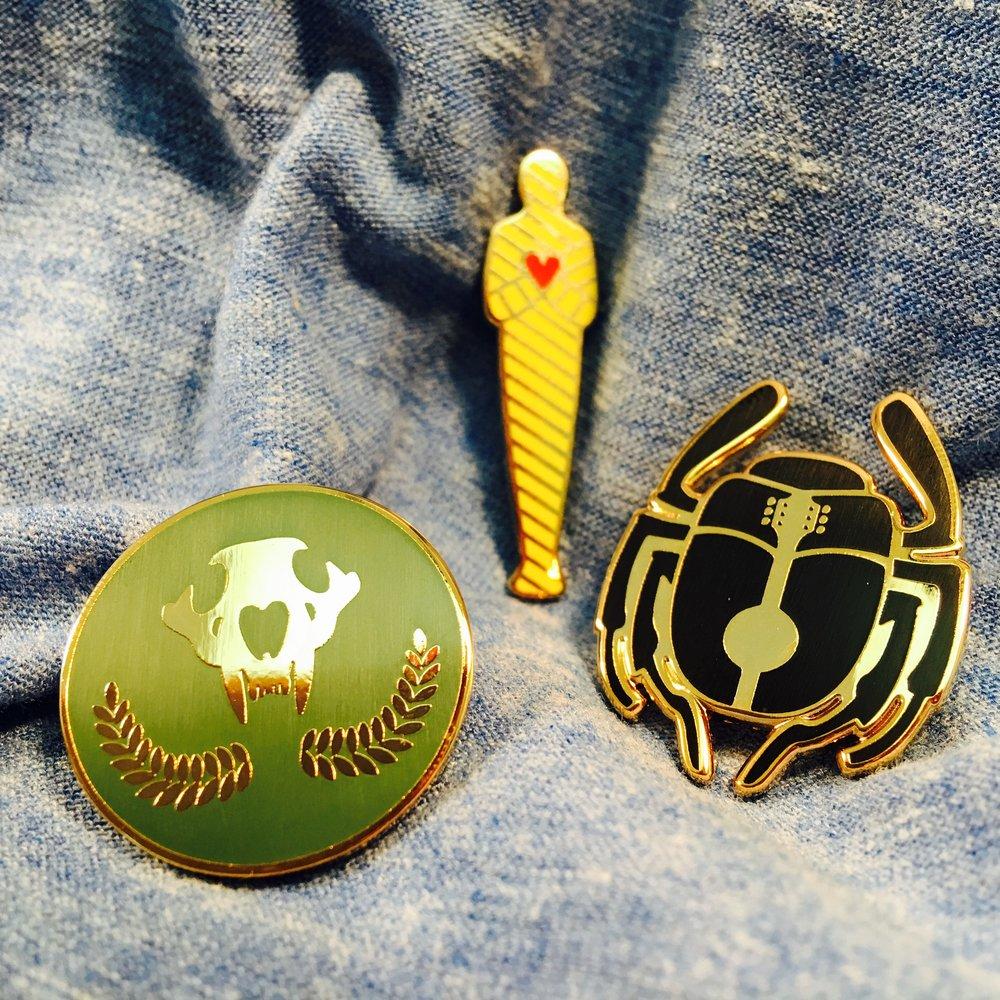 Hard enamel pins for Josh Ritter