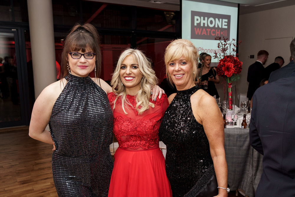 Phone Watch Christmas Party and Awards party in The Morrison Hotel Dublin. Corporate photography by Roger Kenny.