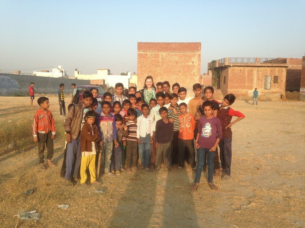 A group of children discover me drawing on a patch of wasteland in Modinagar. Before I know it, I'm surrounded...