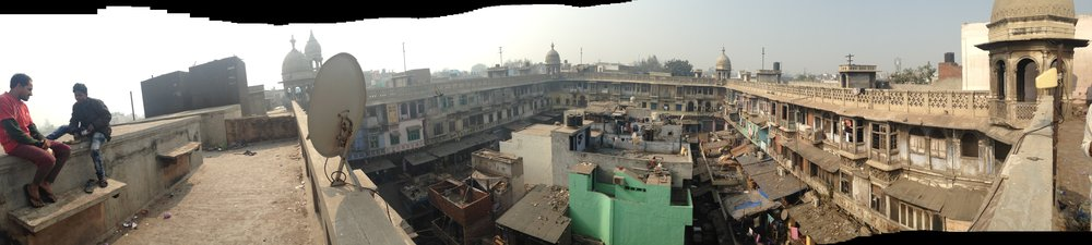 The spice market from the roof