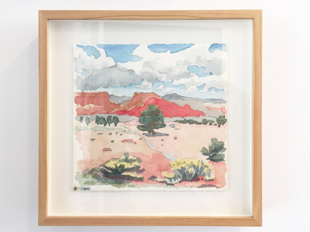 New Mexico,  6 11/16 x 7 inches, watercolor on paper, 2017. SOLD