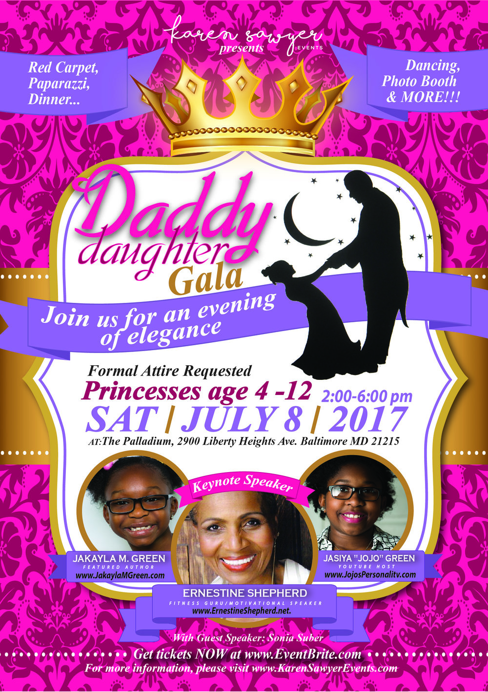 The flyer for the Daddy Daughter Gala