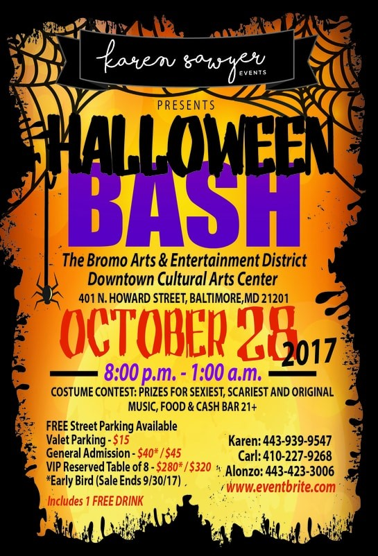 Halloween Bash October 28, 2017 - Karen Sawyer Events