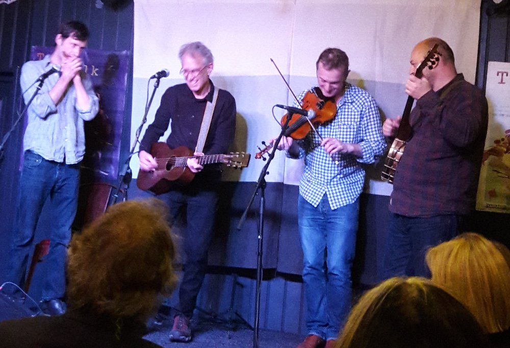 Billy with The Riverboat Ramblers at The Cabbage Patch for Twickfolk in London, October 15, 2017