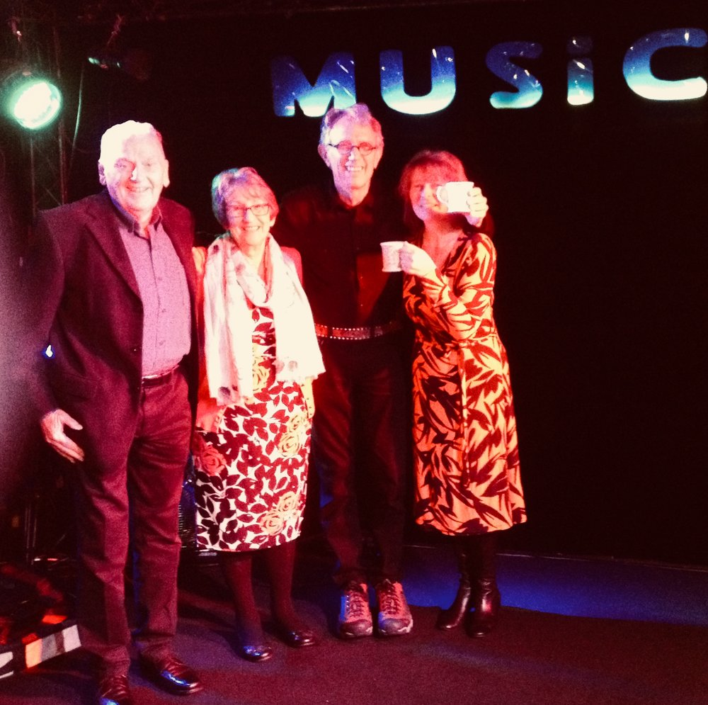 Tony, Val, Billy and Val H at The Musician in Leicester, October 16, 2017
