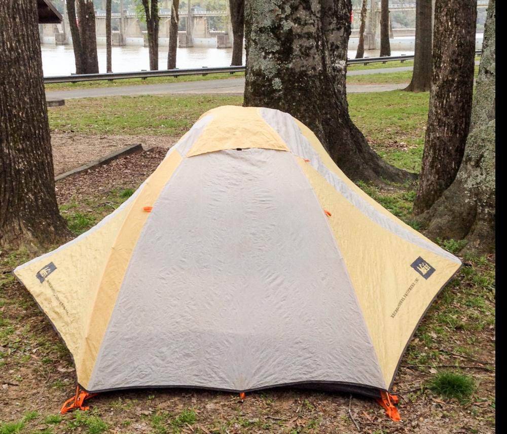 The tent at Toad Suck, Arkansas April 3, 2018