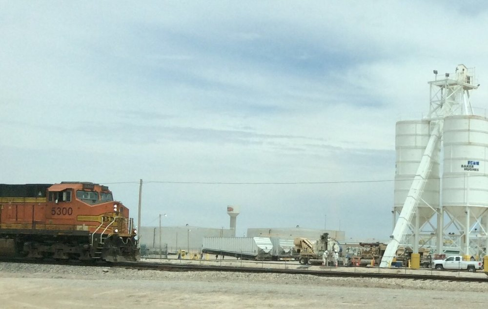 Train heading south in New Mexico April 6, 2018