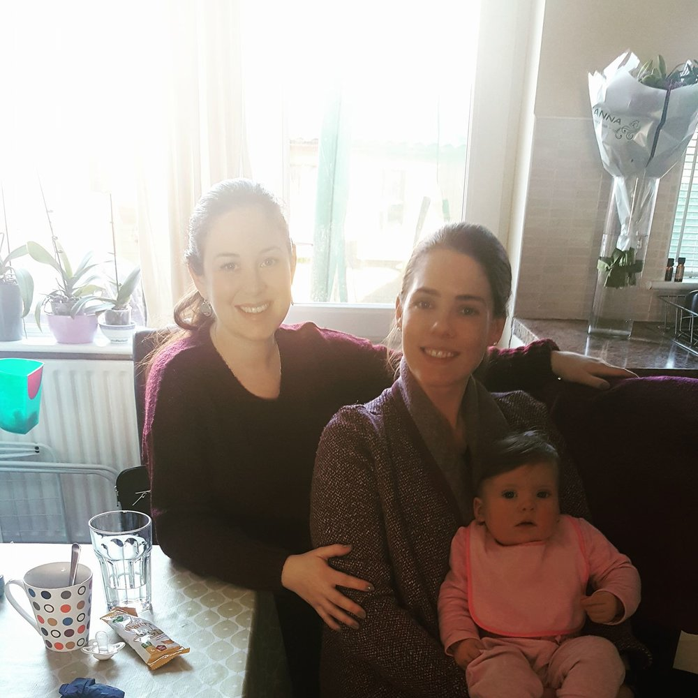 Lovely morning hanging out with Kathy and baby Robyn from  Bump, Baby and Me