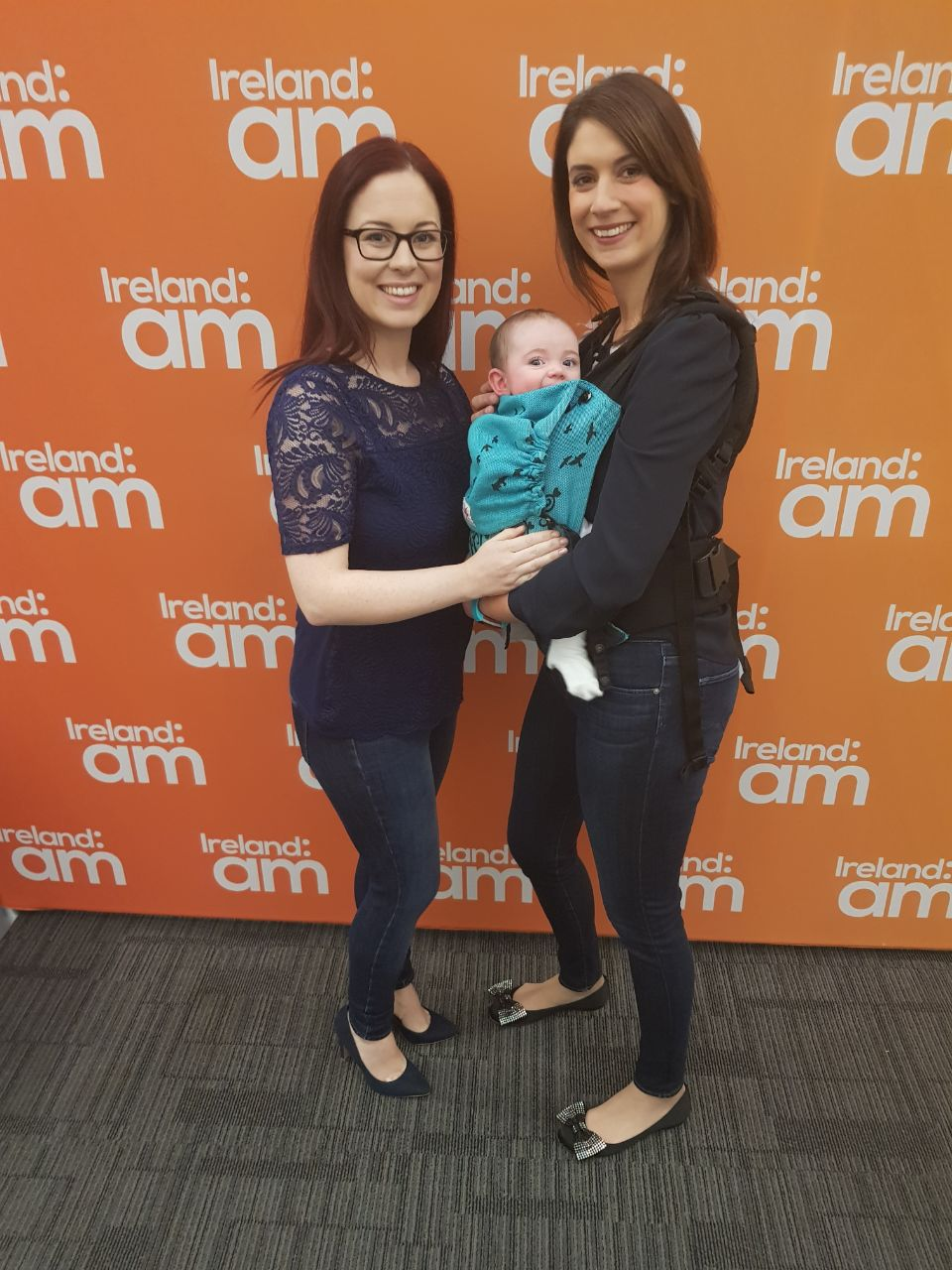 JEN WITH FORMER CLIENT RUTH AND STAR OF THE SHOW, BABY AMY (PARTNER CONOR WAS BACKSTAGE KEEPING AN EYE ON TODDLER MARK)
