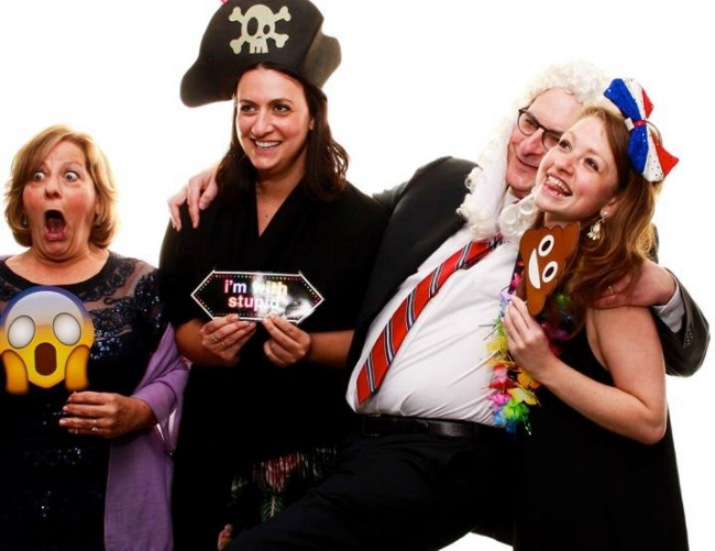 My family at the wedding. I swear, I was even anxious about having enough time to take pictures in the photo booth.