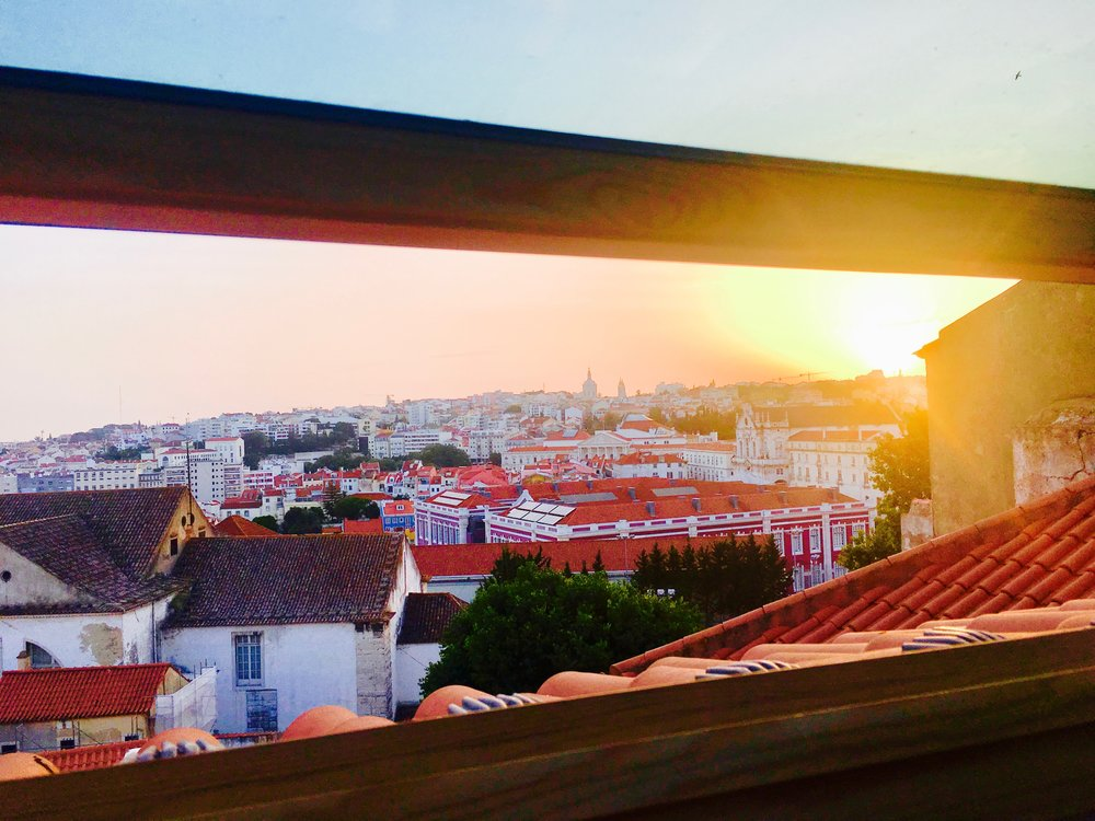 View from our Airbnb in Portugal