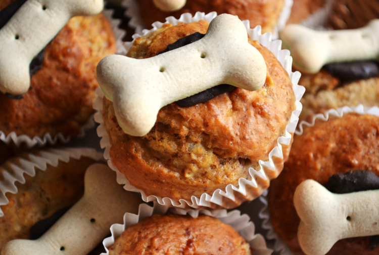 Peanut butter pup cakes from, fresh from the doggie bakery at Four Legged Fancies.