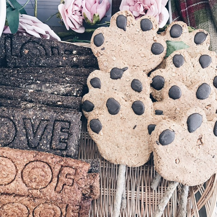 Giant paw lollies and 'woof' biscuits.