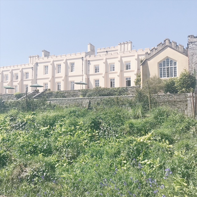 pentillie castle from the gardens