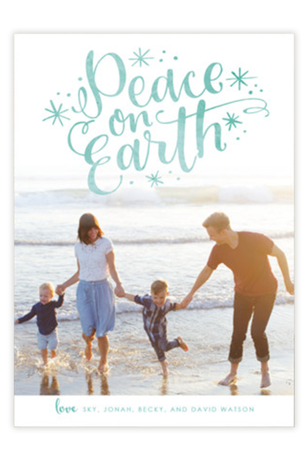 lettered peace - Customizable Card