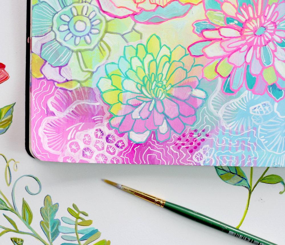 Floral Pattern with Soft Color Scheme