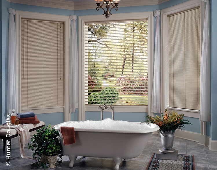 Mini blinds can provide complete privacy with just a turn of the wand - and just as quickly restore your view and light.