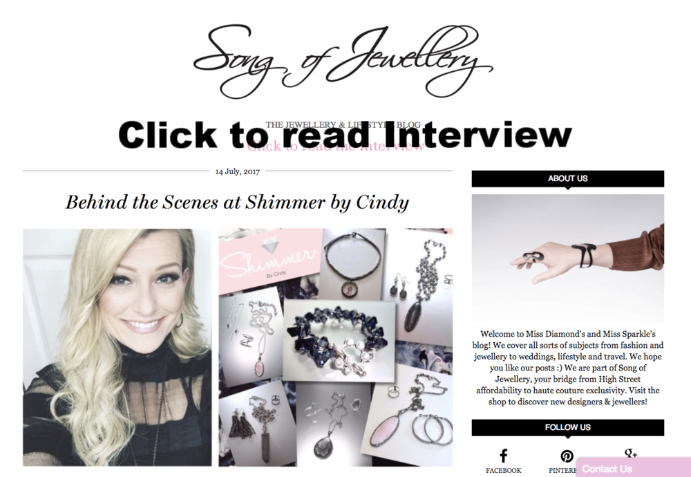 Song of Jewellery Interview- July 2017